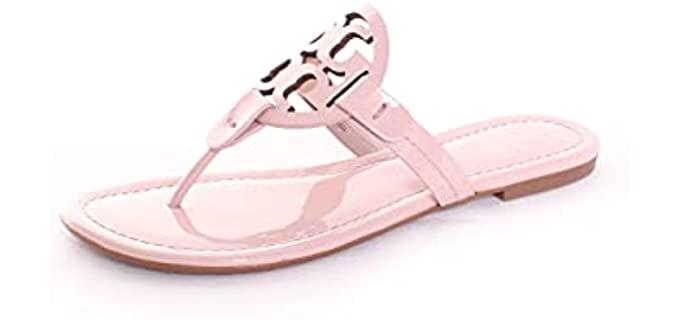 Tory Burch Women's Miller - Flat Sandals for Summer