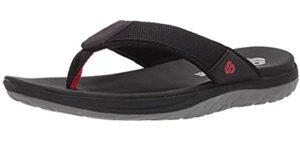 Clarks Men's Step Beat Dune - Flip Flops for Sesamoiditis