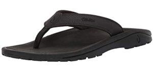 Olukai Men's Ohana - Flip Flops for Flat Feet