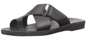 Jerusalem Sandals Men's Asher - Toe Loop Leather Sandals