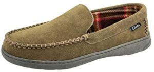 Clarks Men's Freddie - Slipper for Cracked Heels