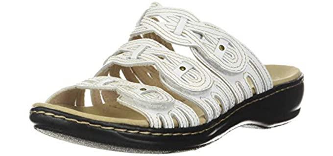 Clarks Women's Leisa Faye - Professional Dress Sandals for Nurses