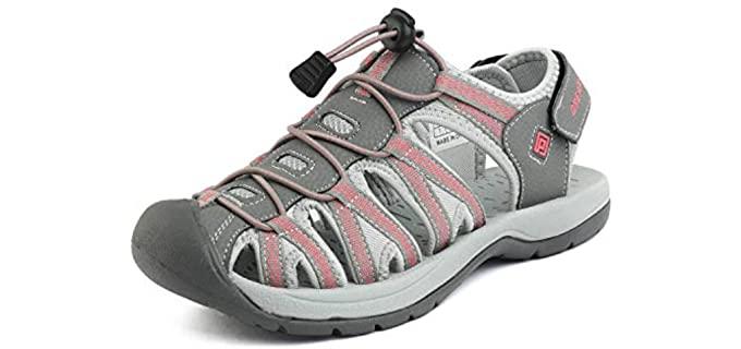 Dream Pairs Women's Elastica - Summer Flat Sandals