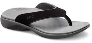 Dr. Comfort Men's Collin - Flip Flops for Wide Feet