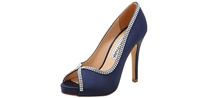 ElegantPark Women's Peep Toe - Bridesmaid Wedding Sandals