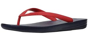 FitFlop Men's Iqushion - Flip Flops for Sesamoiditis