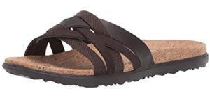 Merrell Women's Around Town Arlin - Leather Slide Sandals for Heavy Weights