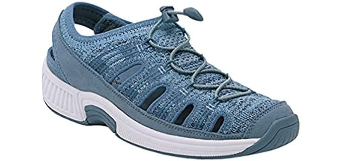Orthofeet Women's Laguna - Fisherman Style Sandal for Bunions