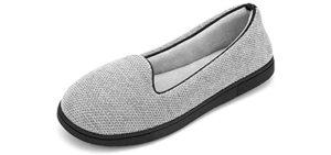 RockDove Women's Chenille - Summer Slipper for Cracked Heels