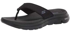 Skechers Men's Go Walk - Wedge Sandal for the Beach