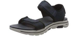 Skechers Men's Go Walk 5 - Casual Walking All Day Sandal