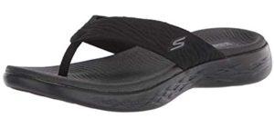 Skechers Women's On The Go 600 Sunny - Flip Flop for Wide Feet