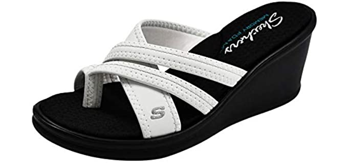 Skechers Women's Rumblers - Wege Sole Dress Sandals for Nurses