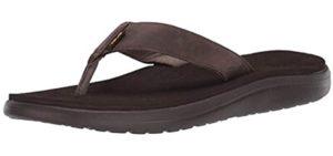 Teva Men's Voya flip - Leather Flip Flop Sandal