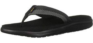 Teva Men's Voya Flip - Leather Flip Flop Sandal for Plantar Fasciitis