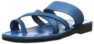 Jerusalem Sandals Women's Slide - Toe Loop Leather Sandals