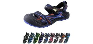 Gold Pigeon Shoes Women's Easy Snap - Toe Guard Sandal for Cycling