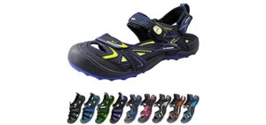 Gold Pigeon Shoes Men's Easy Snap - Toe Guard Sandal for Cycling
