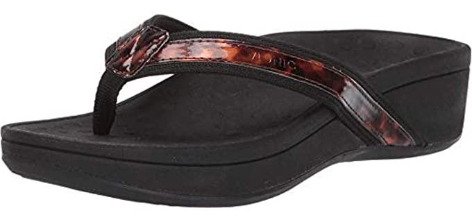 Vionic Women's Pacific - Flip Flop Wide Width Wedge Sandal