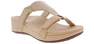Vionic Women's Pacific Ellie - Sandals for Flat Feet