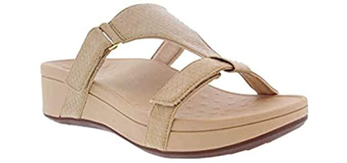 Vionic Women's Pacific Ellie - Flip Flop Wedge Bunion Sandal