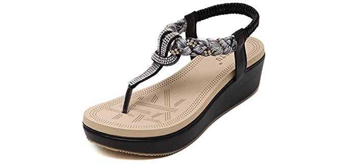 Dolphin Girl Women's Glitter - T-Strap Sandals