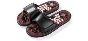 Byriver Men's Acupressure Stones - Massage Sandals