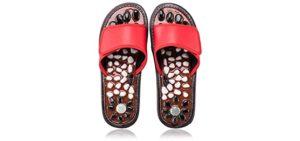 Byriver Women's Acupressure Stones - Massage Sandals