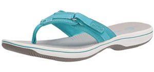 Clarks Women's Breeze - Flip Flops for Sesamoiditis