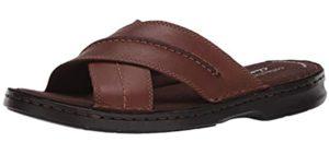 Clarks Men's Malone Cross - Sandals for Plantar Fasciitis