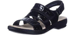 Clarks Women's Leisa Melinda - Sandals for Plantar Fasciitis