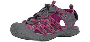 Grition Women's Athletic Waterproof - Waterproof Hiking Sandals