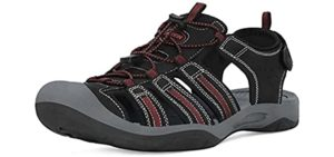 Grition Men's Protective Toe Cap - Sandals for Hiking
