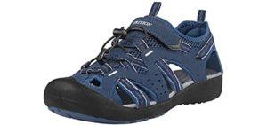 Grition Men's Closed Toe - Walking Outdoor Wear Sandals