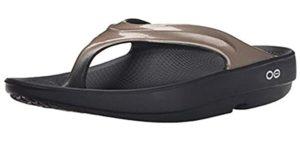 Oofos Women's Luxe - Flip Flops for Plantar Fasciitis