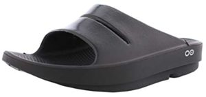 Oofos Men's Ooahh Luxe - Slide Sandals for Plantar Fasciitis