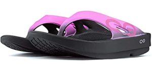 Oofos Women's Sport Flips - Flip Flops for Flat Feet