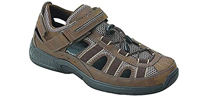 Orthofeet Men's Clearwater - Fisherman's Sandals for Plantar Fasciitis