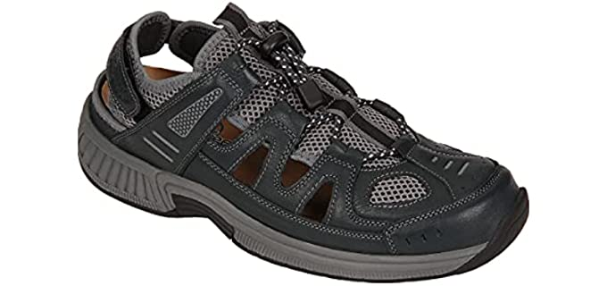Orthofeet Men's Alpine - Sandal for Plantar Fasciitis