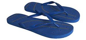 Shower Shoez Men's Non-Slip - Showering Flip Flop