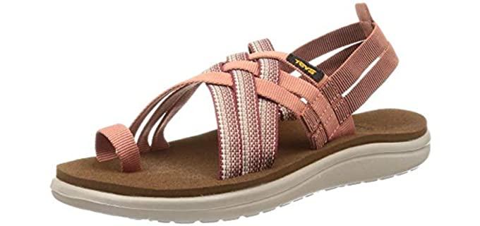 Teva Women's Voya Strappy - Slide Sandal for Bunions