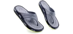 Ventolation Men's AIRventure - Flip Flops for the Shower