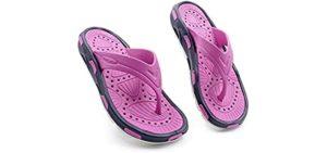 Ventolation Women's AIRventure - Flip Flops for the Shower