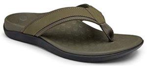 Vionic Men's Tide Green - Comfortable Flip Flops