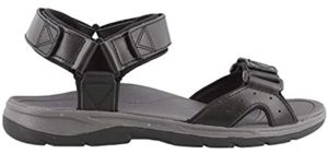 Vionic Orthaheel Men's Canoe Leo - Orthopedic Open Toe Comfort Sandal