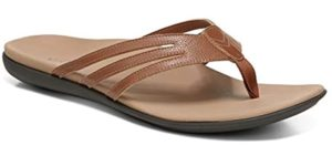 Vionic Women's Mirage Alta - Leather Flip Flops