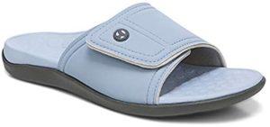 Vionic Men's Pastel Slides - Slide Sandals for Sesamoiditis