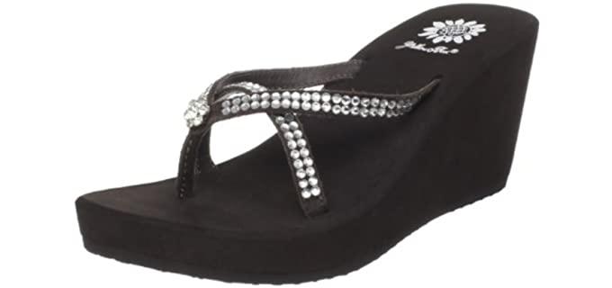 Yellow Box Women's Gateway - Platform Heel Flip Flops