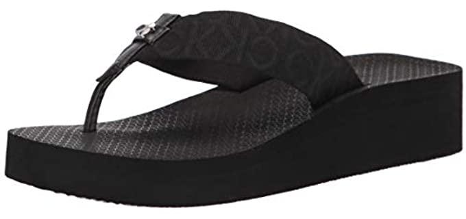 Calvin Klein Women's Mina - Platform Flip Flops