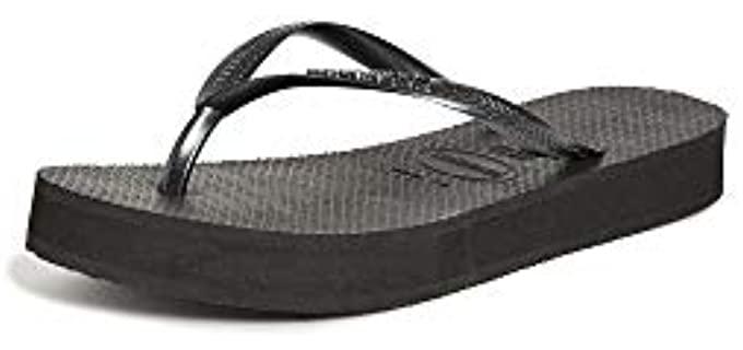 Havaianas Women's Slip On - Flip Flops with a Platform